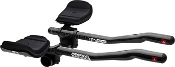 Profile Design T2 Plus S-Bend Carbon Aerobar: Long 357mm Extension with J5 Bracket and F-40TT Armrest, Black
