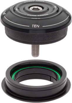 Cane Creek 10 Series Complete Headset, ZS44/28.6mm Upper with Short Top Cover and ZS44/30.0mm Lower, Black