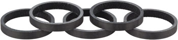 Whisky 5mm UD Carbon Spacer Matte Black 5-pack