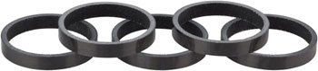 Whisky 5mm UD Carbon Spacer Gloss Black 5-pack