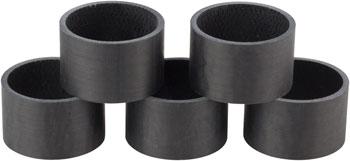 Whisky 20mm UD Carbon Spacer Matte Black 5-pack