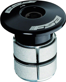 "FSA Compressor 1"" Black Expander Plug and Top Cap"