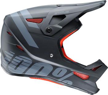 100% Status Full-Face Helmet: Black Meteor LG