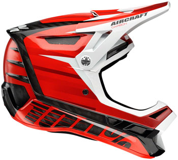 100% Aircraft MIPS Carbon Full-Face Helmet: Dexter Red MD