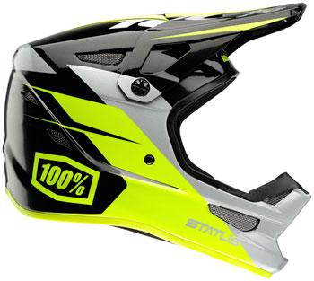 100% Status Full-Face Helmet: Falta Charcoal SM