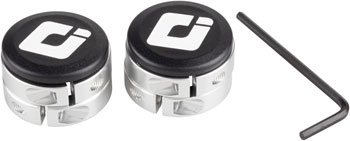 ODI Lock Jaw clamps w/ Snap caps Silver set/4