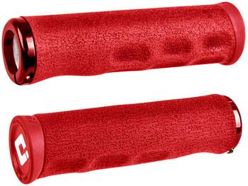 ODI Dread Lock Grips - Red, Lock-On