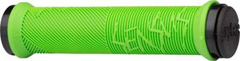ODI Disisdaboss Grips - Lime Green, Lock-On