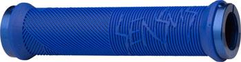 ODI Disisdaboss Grips - Bright Blue, Lock-On