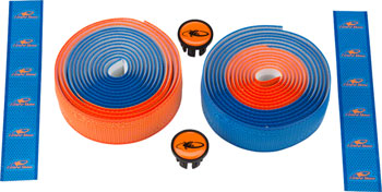 Lizard Skins DSP 2.5mm Handlebar Tape - Cobalt Blue/Orange