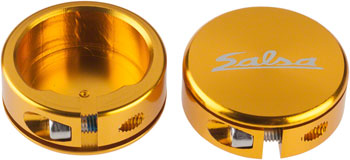 Salsa Lock-On Collars Closed-End Gold