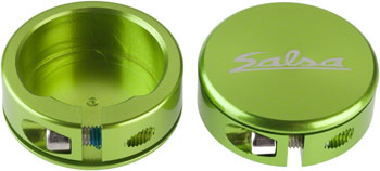 Salsa Lock-On Collars Closed-End Lime Green