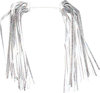 Dimension Kid's Bike Streamers: Silver-Platinum~ Pair
