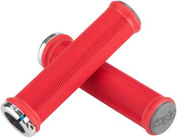 ODI Sensus Lite v2.1 Grips - Red/Graphite, Lock-On