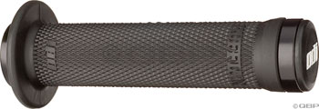 ODI Ruffian Lock-On Grips - Black, Lock-On, Flange, BMX