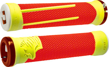 ODI AG2 Grips - Orange/Yellow, Lock-On