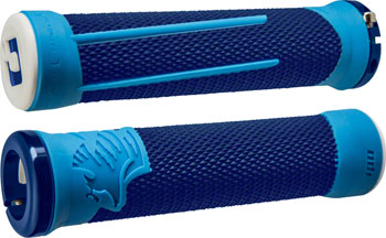 ODI AG2 Grips - Blue/LIght Blue, Lock-On