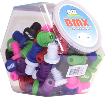 ODI Jar Of BMX End Plugs 50 Pair Various Colors