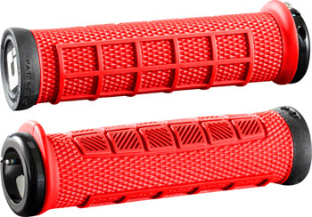 ODI Elite Pro Grips - Burnt Red Black, Lock-On