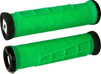 ODI Elite Flow Grips - Retro Green, Lock-On