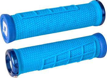 ODI Elite Flow Grips - Light Blue, Lock-On