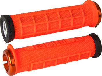 ODI Elite Pro Grips - Orange, Lock-On