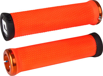 ODI Elite Motion Grips - Orange, Lock-On