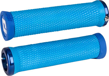 ODI Elite Motion Grips - Light Blue, Lock-On