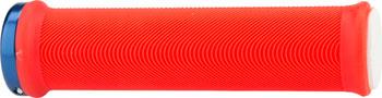ODI Sensus Lite v2.1 Lock-On Grips Red/White W/Blue Clamps