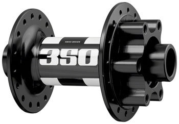 32h 6-Bolt Disc 15 x 110mm Black//White DT Swiss 350 Front Hub