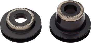 DT Swiss 15mm Thru Axle to 9mm Thru Bolt conversion end caps for 2011+ 240 Centerlock hubs