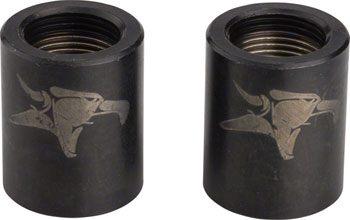 Animal Silva Nub Nuts Pegless Axle Nuts 14mm, Black