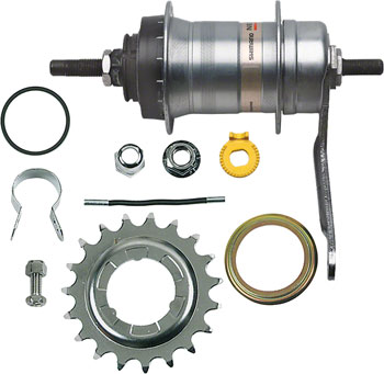Shimano Nexus SG-3C41 3-Speed Internally Geared Coaster Brake 36h Rear Hub Kit, Small Parts Included