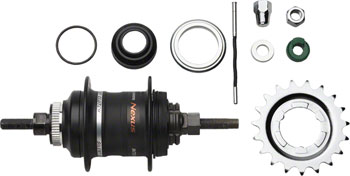Shimano Nexus SG-3D55 3-Speed Internally Geared Disc Brake 32h Rear Hub Kit, Small Parts Included