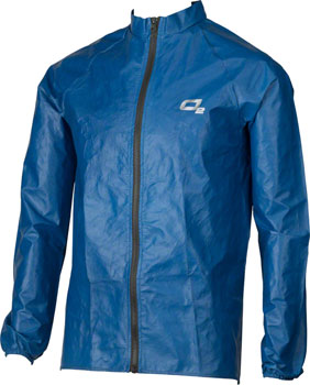 O2 Rainwear Element Series Rain Jacket: Steel Blue SM