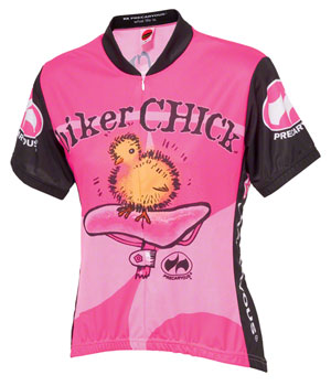 World Jerseys Women's Biker Chick Cycling Jersey: Pink, SM
