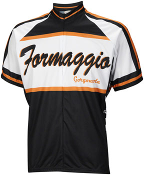World Jerseys Formaggio Primo Uno Men's Cycling Jersey: White/Black, MD