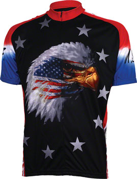 World Jerseys American Eagle Jersey - Black, Short Sleeve, Men's, Medium