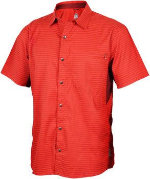 Club Ride Vibe Men's Short Sleeve Shirt: Rust SM