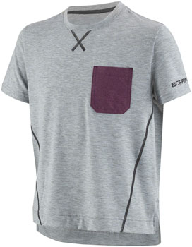 Garneau T-Dirt Junior Jersey: Heather Gray JR LG