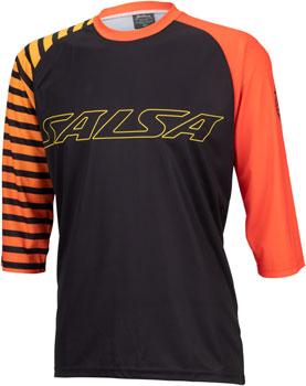 Salsa Devour MTB Jersey - Orange Fade Stripe, 3/4 Sleeve, Men's, X-Large