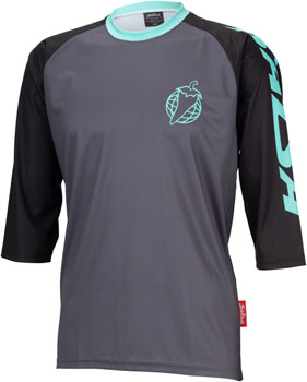 Salsa Devour MTB Jersey - Black Mint, 3/4 Sleeve, Men's, Medium