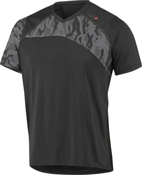 Garneau Andes MTB Short Sleeve T-Shirt: Black/Gray SM
