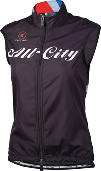 All-City Team Women's Vest: Black/Red/Blue 2XL