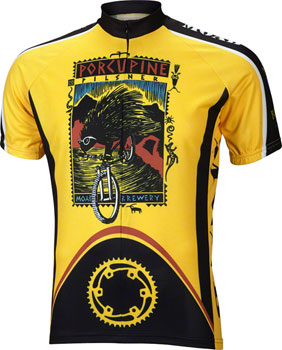 World Jerseys Moab Porcupine Pilsner Men's Cycling Jersey: Gold/Black, XL