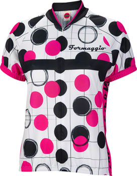 World Jerseys Formaggio Bubble Jersey - White/Fuchsia/Black, Short Sleeve, Women's, Large