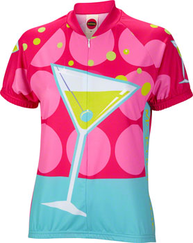 World Jerseys Martini Time Jersey - Multi-Color, Short Sleeve, Women's, Small