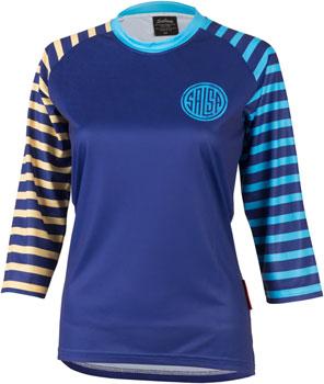 Salsa Devour Women's Short Sleeve Jersey: Blue 2XL