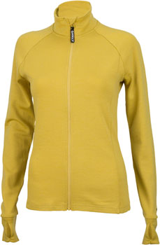 Surly Merino Wool Women's Long Sleeve Jersey: Dried Mustard Yellow XS