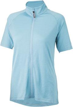 Surly Merino Wool Lite Women's Short Sleeve Jersey: Tile Blue MD